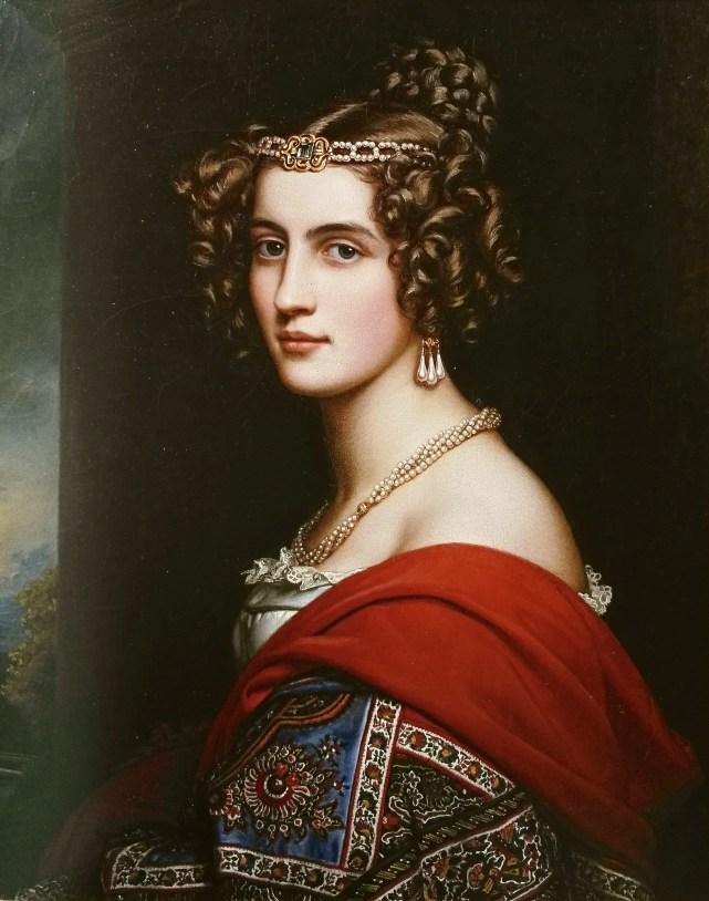Amalia von Schintling - Portrait par Stieler en 1831 pour la Galerie des Beautés