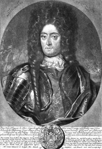 François Lefort, gravure réalisée par Pierre Schenk à Amsterdam et conservée en Suisse.