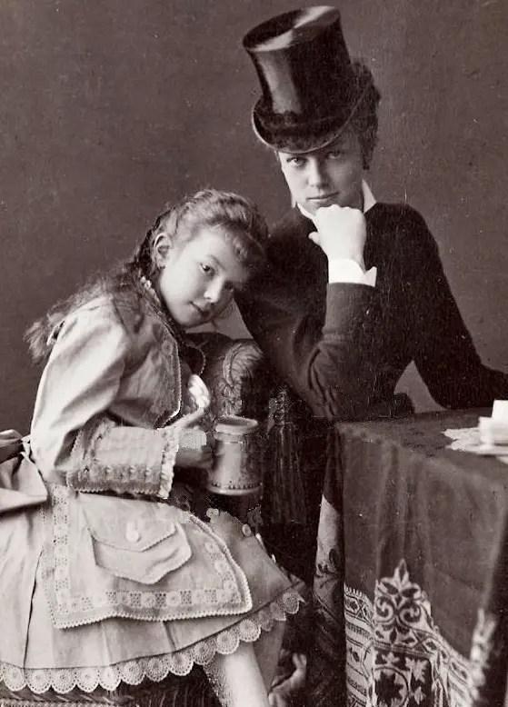 Marie Wallersee avec la plus jeune fille de Sissi, Marie-Valérie