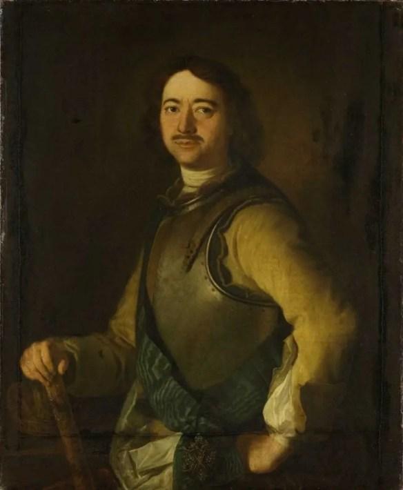 Pierre le Grand par un peintre anonyme (conservé à Amsderdam)