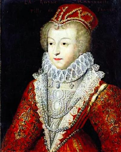 Portrait d'après François Clouet de la Reine Margot, épouse d'Henri de Navarre futur Henri IV (conservé à Blois)