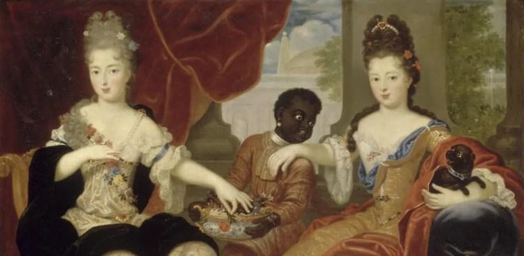 """Le fameux nain """"Nabo"""" de la Reine Marie-Thérèse n'était pas le seul """"noir"""" à la Cour du Roi-Soleil. En témoigne ce portrait de deux de ses filles issues de ses amours avec Madame de Montespan."""