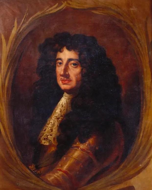 Charles II Stuart, Roi d'Angleterre et frère d'Henriette-Anne, par Antonio Verrio