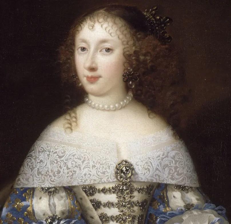 Henriette-Anna peinte par un anonyme (attribué parfois à Pierre Mignard) - Château de Versailles