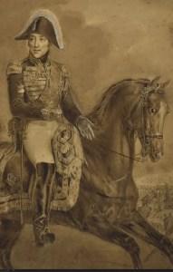 Charles X passant les troupes en revue au Champ de Mars le 30 septembre 1824 - Dessin de Charles Aubry