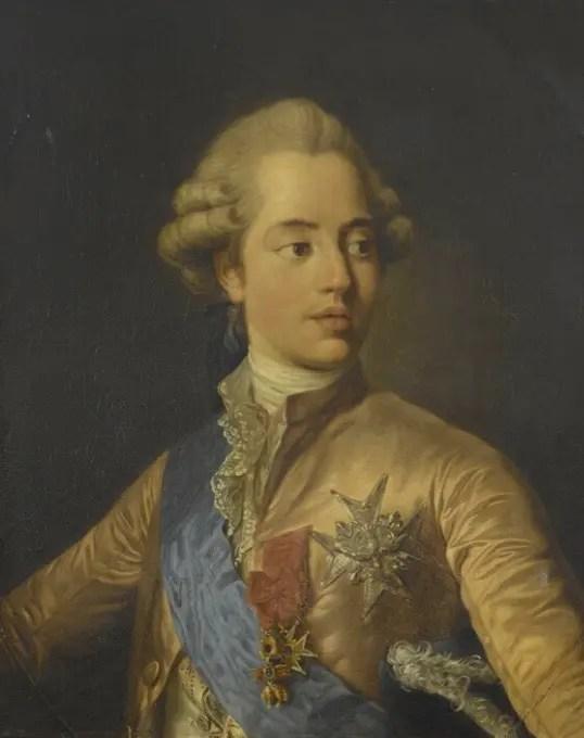 Le comte d'Artois par Louis-Joseph-Siffrède d'après Duplessis - Collection du château de Versailles