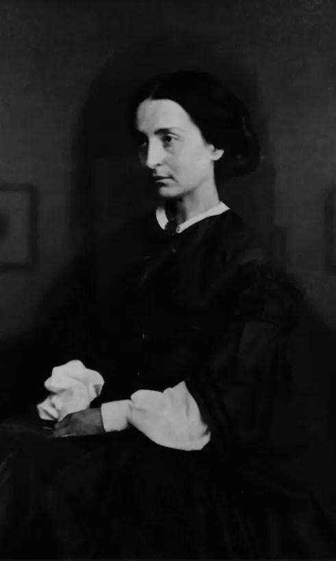 Adèle Hugo à Guernesey en 1862 photographiée par Edmond Bacot (maison de Victor Hugo, détail)