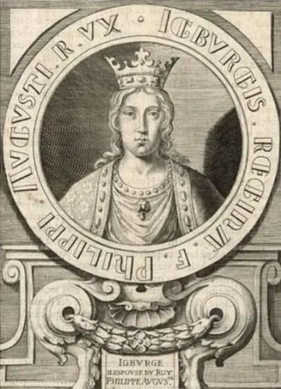 Gravure représentant Ingeburge de Danemark