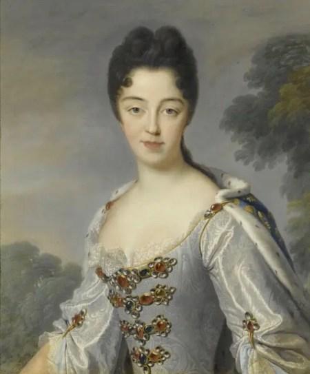 Marie-Adelaïde de Savoie, duchesse de Bourgogne, d'après Jean Baptiste Santerre en 1709 (château de Versailles)