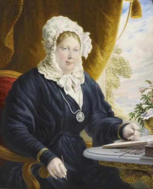 Charlotte, Reine douairière de Württemberg par Johann Fischer en 1827 (Collection Elizabeth II)