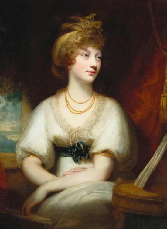 La princesse Amélia par Sir William Beechy en 1797 (Windsor)