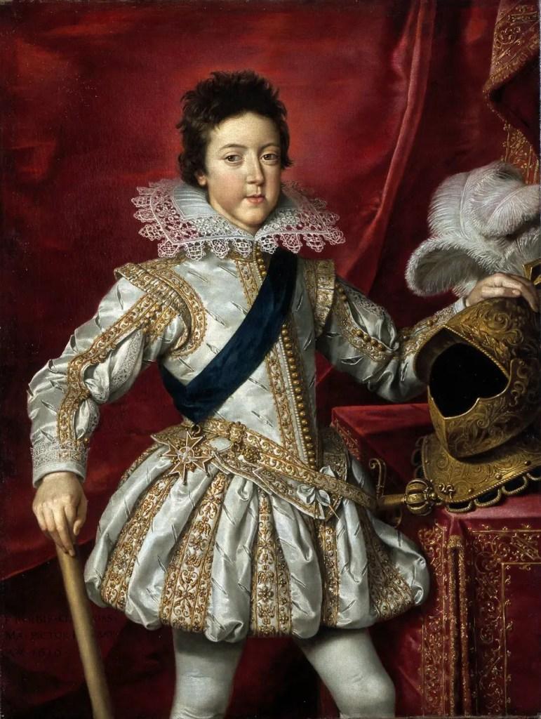 Louis XIII vers 1616 par Pourbus le Jeune