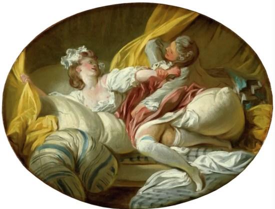 Fragonard, La résistance inutile (National Museum de Stockholm) - Certaines scènes libertines peintes par Fragonard sont équivoques et font penser à des viols.