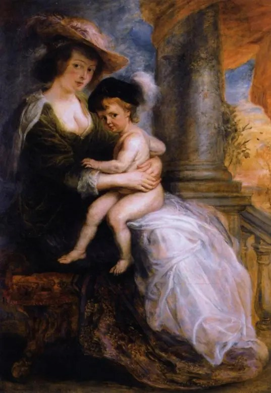 Hélène et son fils François (en réalité la petite Clara), par Rubens (1633 - Alte Pinakothek, Munich)