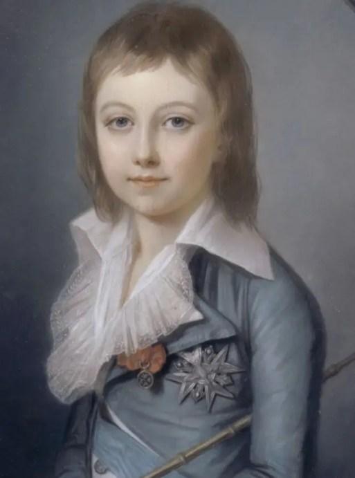 Louis XVII représenté en Dauphin par Alexander Kucharski (Collection du château de Versailles)
