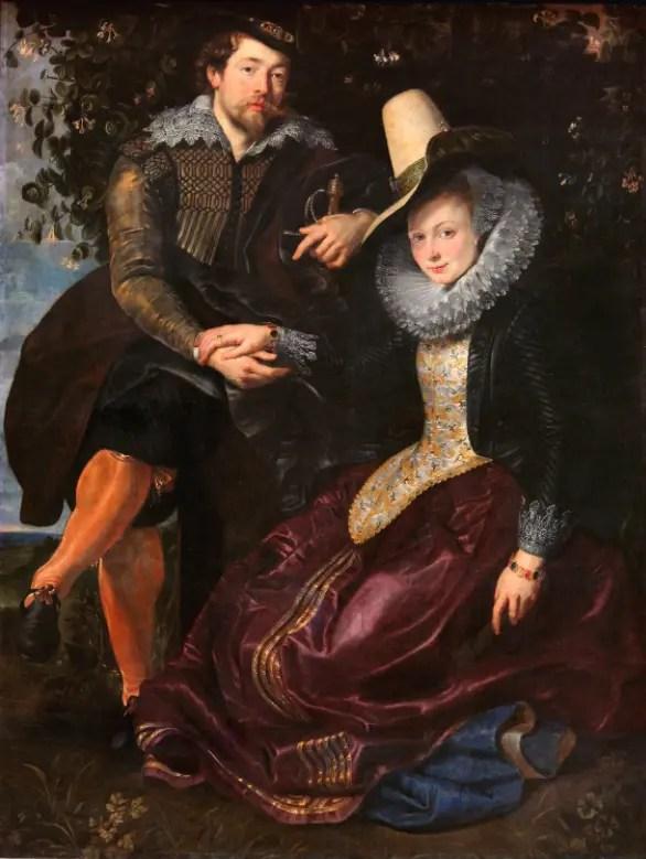 Autoportrait de Rubens le représentant avec sa première épouse Isabella Brant (1609, Alte Pinakothek, Munich)
