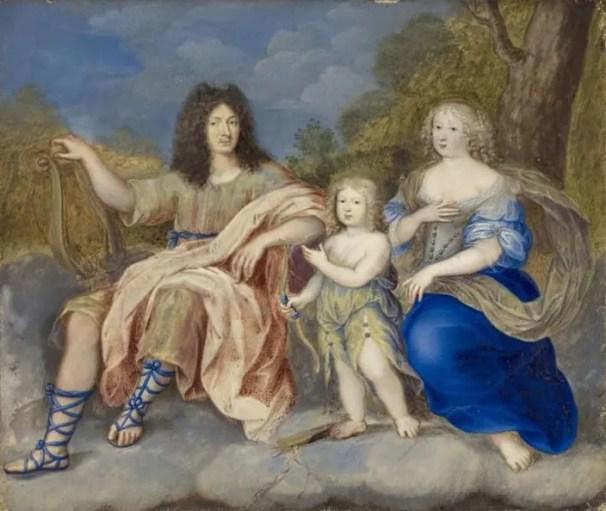 Louis XIV et Marie-Thérèse avec le Dauphin en 1662, par Joseph Werner