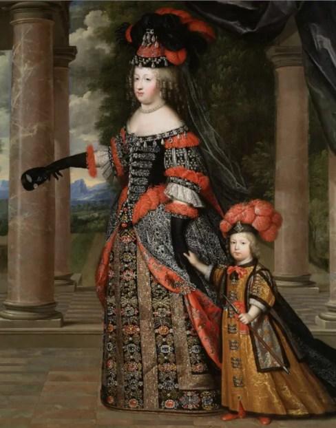 Marie-Therèse et le Dauphin vers 1663, par Charles Beaubrun