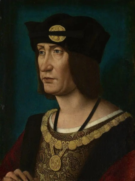 Louis XII en 1514 par Jean Pérreal(Royal Collection)