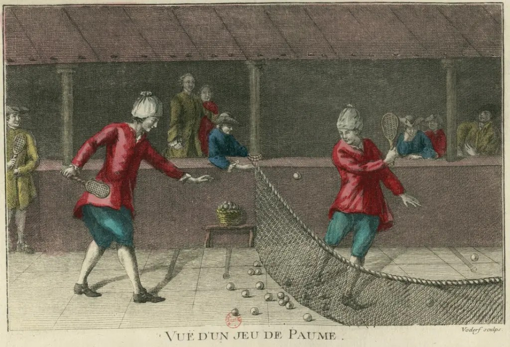 Vue d'un jeu de paume (estampe datant de 1757 - Gallica BNF)