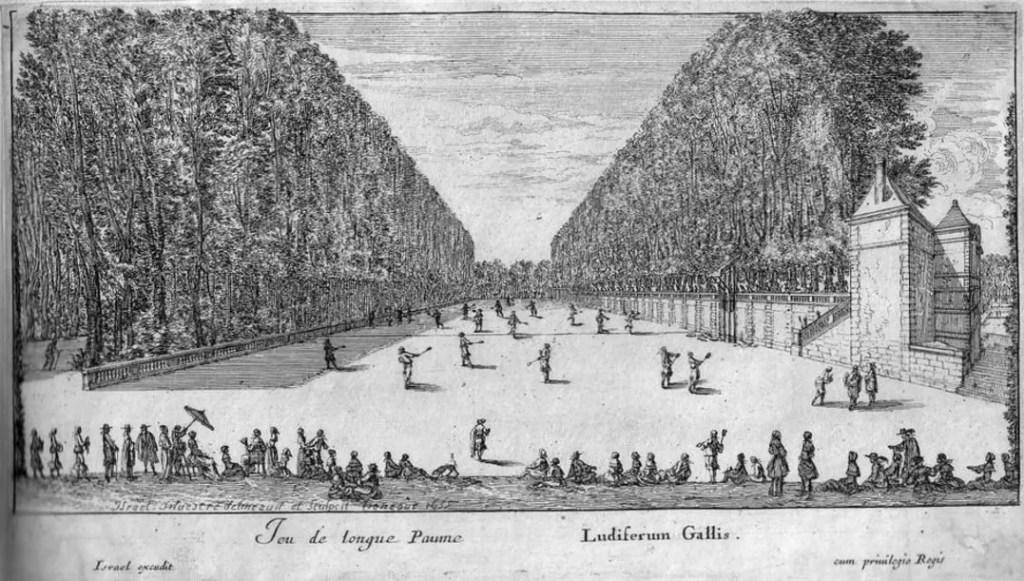 Cela s'est passé en juin & juillet selon Dangeau Jeu-longue-paume-1655-estampe-