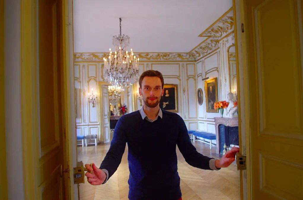 Sébastien Bagot au château de Breteuil