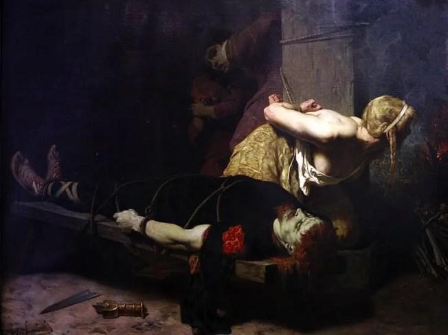 La Mort de Chramm (et de sa famille) par Évariste-Vital Luminais, musée des beaux-arts de Brest.