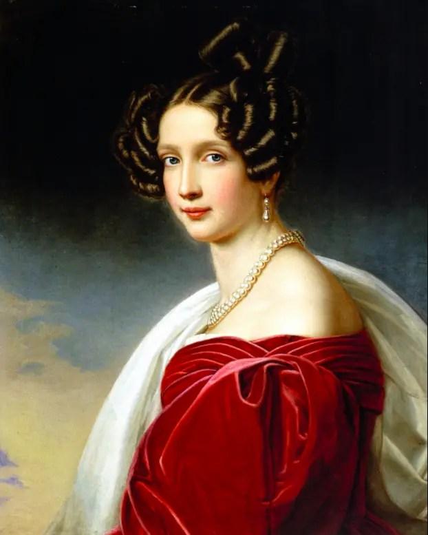 Portrait de Sophie en 1832 par Joseph Stieler pour la Galerie des Beautés de Louis 1er de Bavière - Palais de Nymphenburg