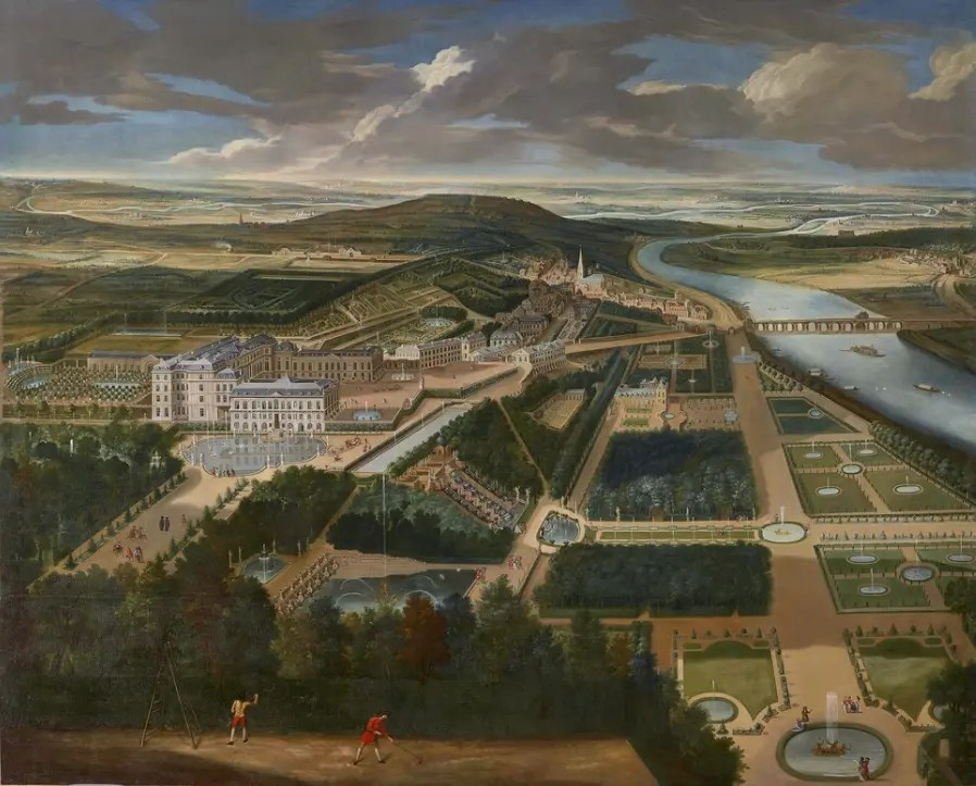 Vue cavalière du château et du parc de Saint Cloud vers 1675 © Château de Versailles, Dist. RMN / © Christophe Fouin