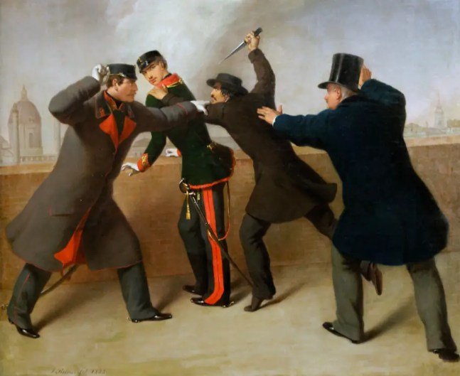 Attentat sur l'empereur François-Joseph - J. Reiner - Vienne (O'Donnell est complètement à gauche)