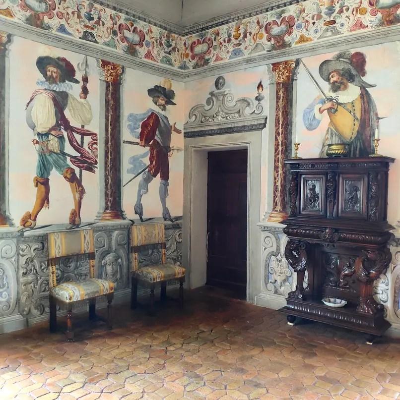 La Chambre de la parade du château de Fléchères