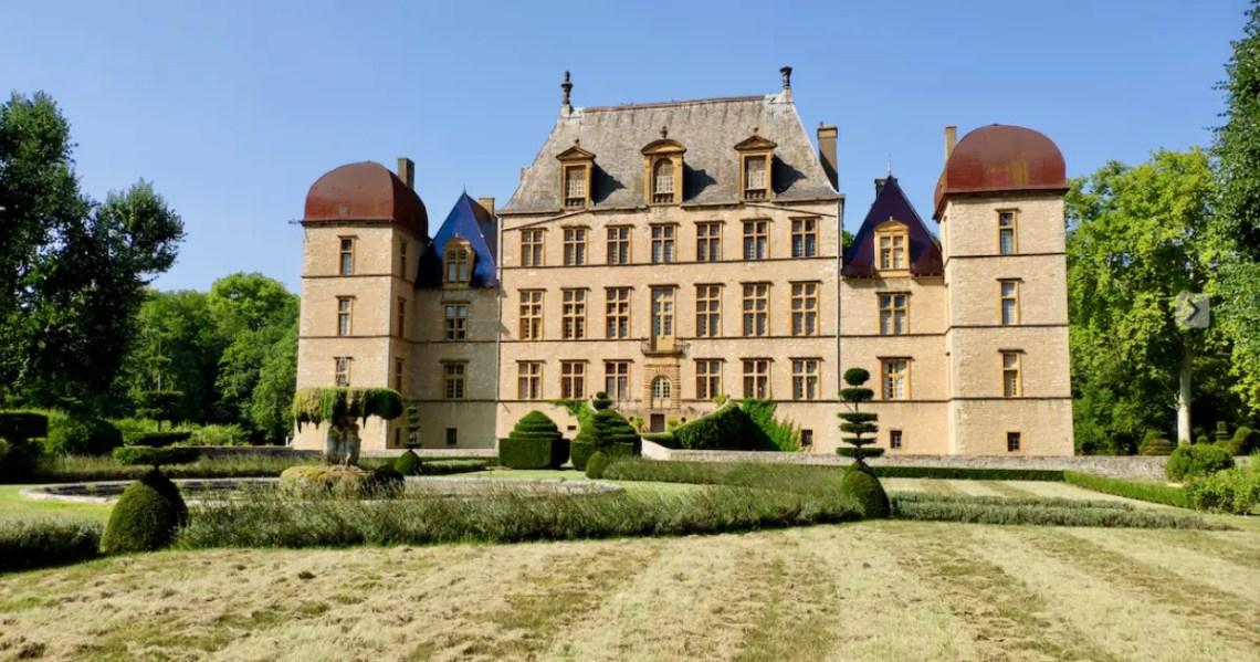 La Chambre des perspectives au château de Fléchères