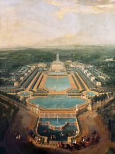 Vue générale du château de Marly par Pierre-Denis Martin en 1724
