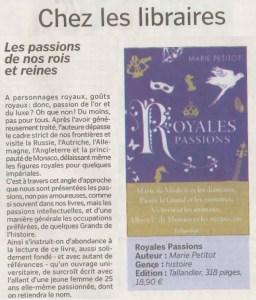 Article La Manche Libre Royales Passions