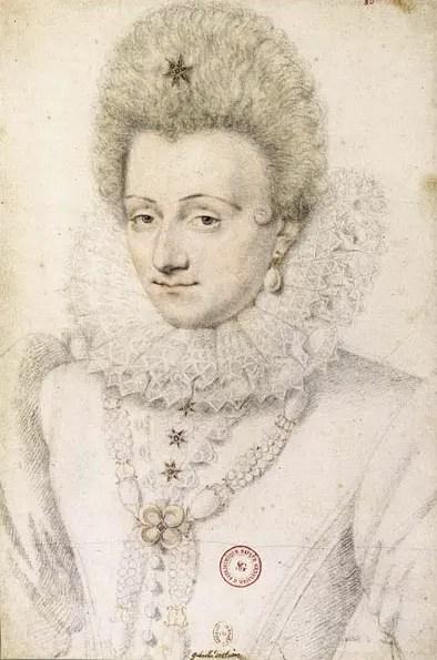 Gabrielle vers 1599 par Daniel Dumonstier - Pierre noire et sanguine
