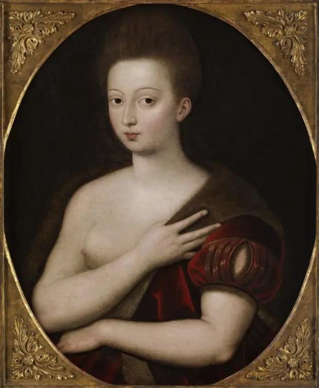 Portrait présumé de Gabrielle d'Estrées par l'école de Fontainebleau