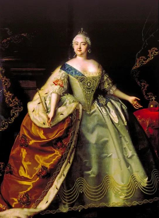 Élisabeth Ière par Louis Caravaque en 1750 - Huile sur toile - Galerie Tretiakov