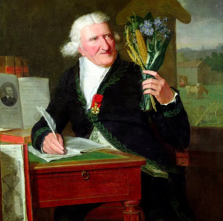 Antoine Parmentier par Francois Dumont en habit d'académicien et portant la Légion d'Honneur (1812 - Versailles)