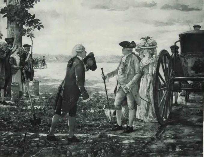 Louis XVI et Parmentier dans la plaine des Sablons - Photographie d'une gravure de Gervex