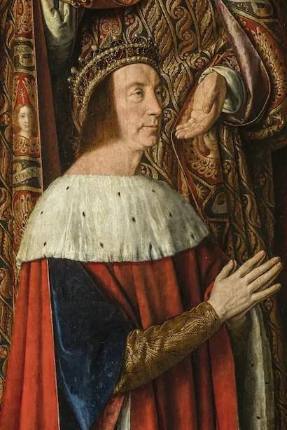 Pierre II de Bourbon sur le Triptyque du Maître de Moulins