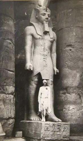 La reine Elisabeth de Belgique en Égypte