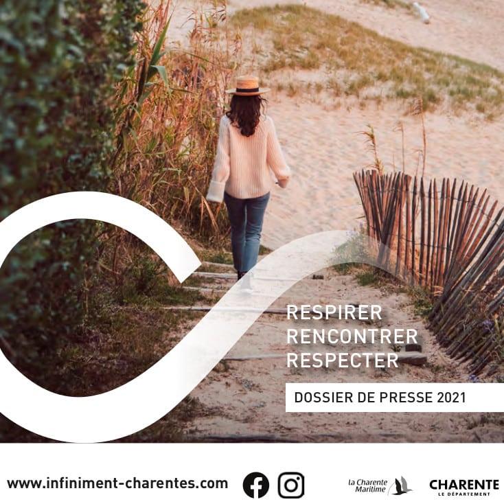 Couverture du dossier de presse Infiniment Charentes 2021