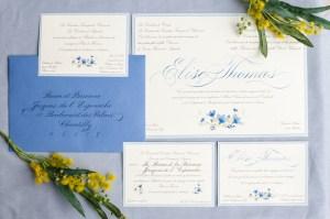 Invitation mariage calligraphie
