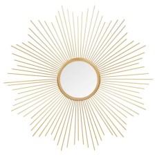 Soledad Miroir rond en métal doré D 70 cm En stock 36,99 €