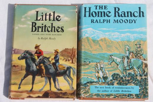 vintage-Ralph-Moody-stories-great-old-covers-cowboy-ranch-life-in-the-good-old-days-Laurel-Leaf-Farm-item-no-s522202-2