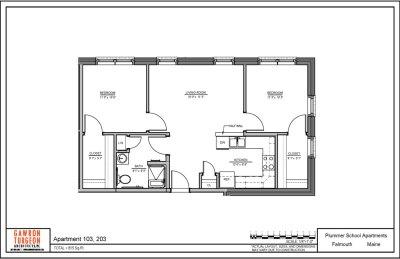 Plummer School Apartment Floor Plans 103 & 203