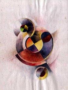 abstrait - aquarelle sur papier