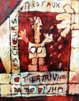 babaï gaga - huile sur toile