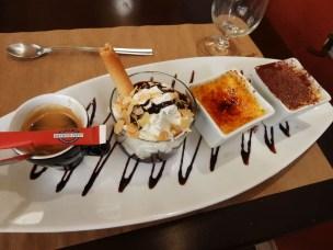 Café gourmand à l'Aïgo Blanco