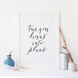 Turn Your Dreams Into Plans | Downloadable Calligraphy Print - Plum Street Prints